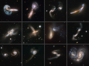 galaxies with emerging tails